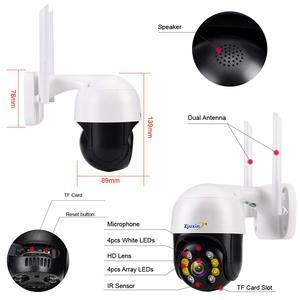 Image 5 - Zjuxin IP מצלמה WiFi 2MP 1080P אלחוטי PTZ מהירות כיפת CCTV IR Onvif מצלמה חיצוני אבטחת מעקב ipCam Camara חיצוני
