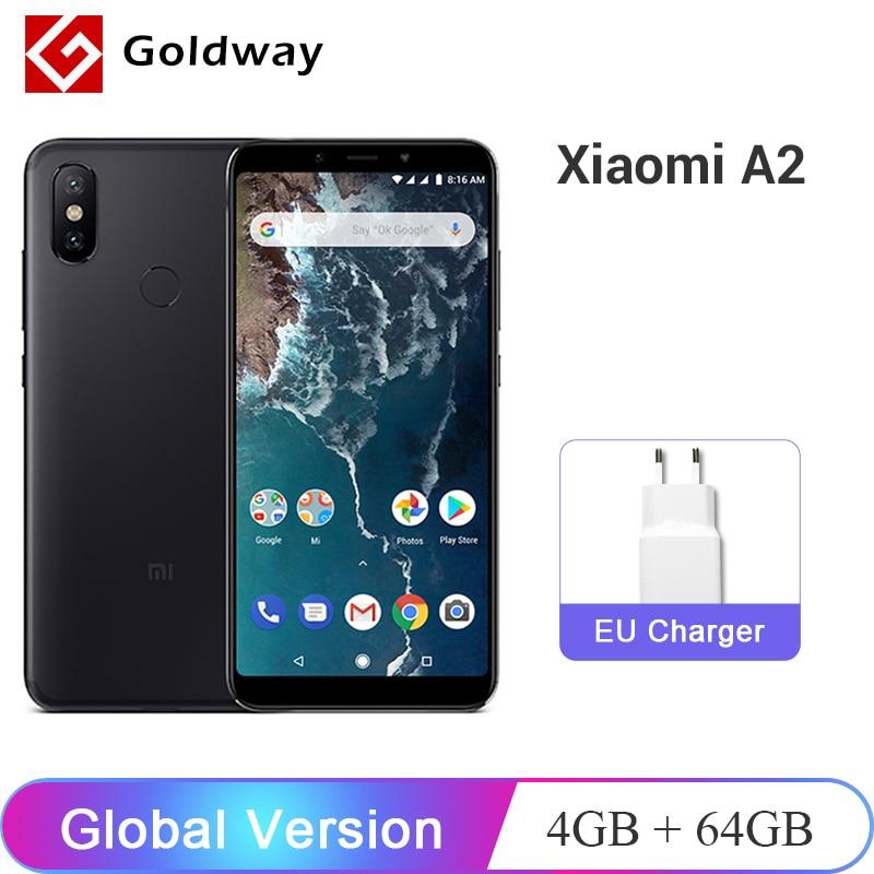 "Global Version Xiaomi Mi A2 MiA2 4GB RAM 64GB ROM Mobile Phone Snapdragon 660 Octa Core 5.99"" 19:9 Full Screen 20MP Dual Camera"