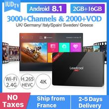 IUDTV IPTV Subscription Leadcool Pro Android 8.1 RK3229 H.265 Decoder Europe Turkish Sweden Italy UK Spain Receiver IP TV