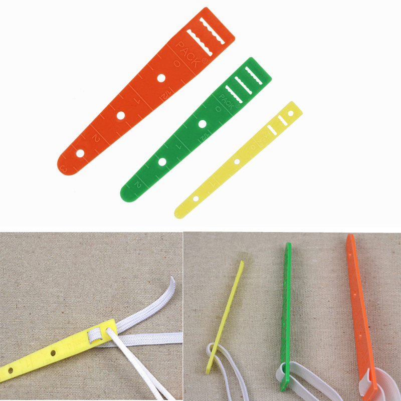 1Pcs Plastic Long Elastic Glides Guides Threader Tool for Sewing Rope Band