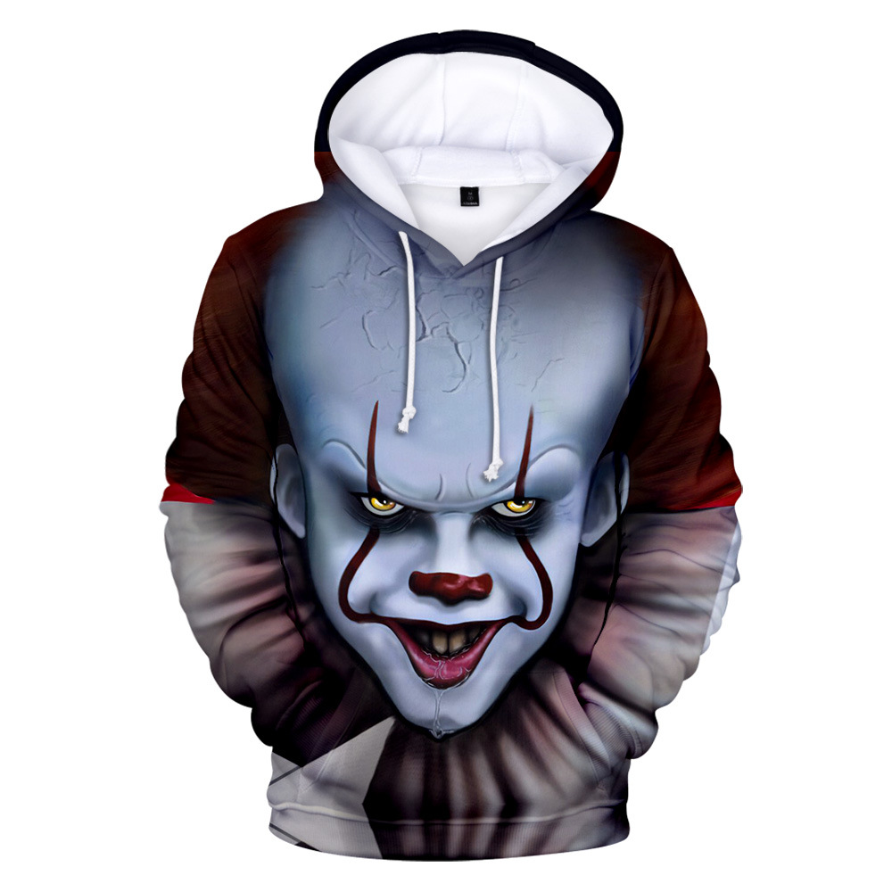 Children Boys Girls Pennywise Clown IT Chapter 2 Cosplay Costumes Sweatshirt 3D Print Hooded Hoodie Tops