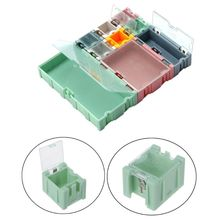 9pcs/set SMD Container SMT IC Electronic Component Mini Storage Box Jewelry Case