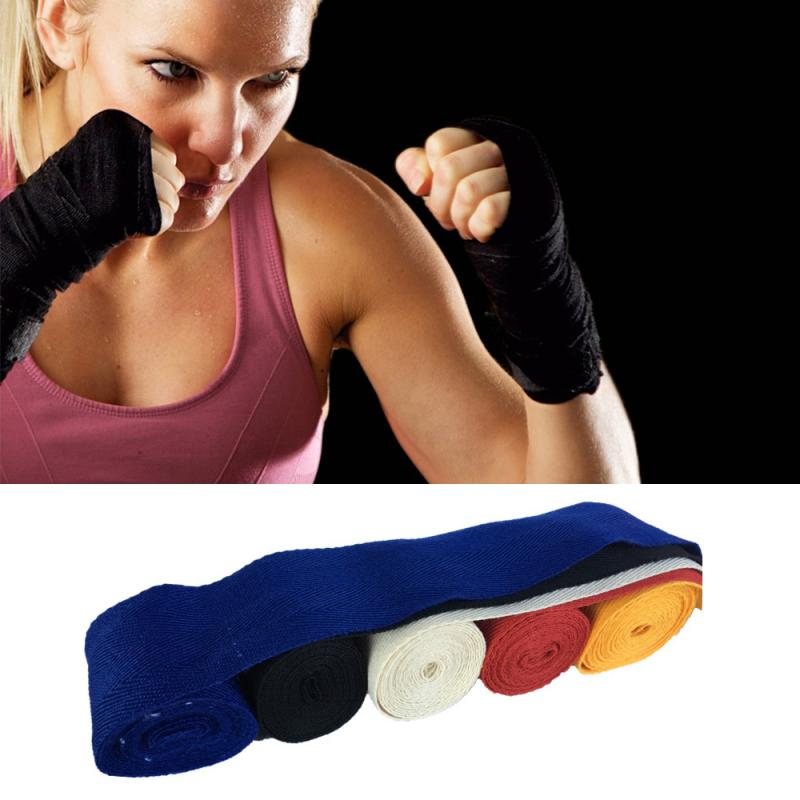 1Pcs 2.5m Cotton Bandage Boxing Wrist Bandage Hand Wrap Combat Protect Boxing Kickboxing Muay Thai Handwraps Training Gloves 7