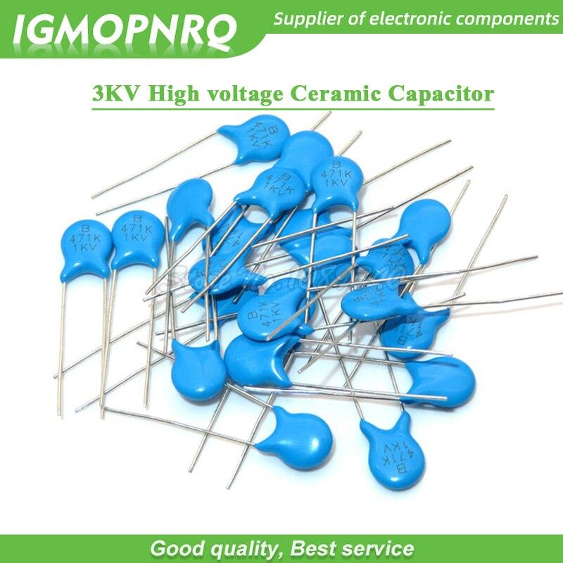 200pcs Ceramic Disc Capacitor 3000V 3KV 101 100PF 0.1NF 0.0001uF High Voltage