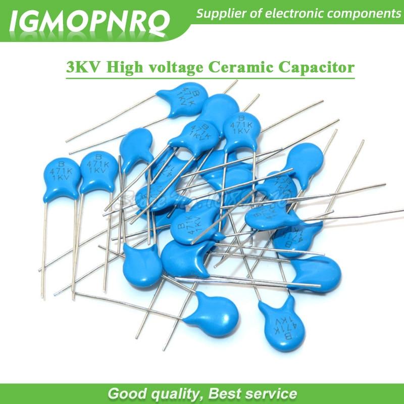 20 pz Condensatore Poliestere 1 nF 100V 1000 pF 1n Condensatori