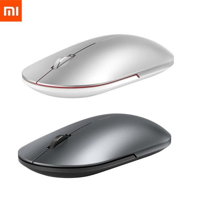 Mais novo xiaomi bluetooth mouse mi moda sem fio mouse mouses 1000dpi 2.4ghz wifi ligação mouse óptico de metal portátil mouse