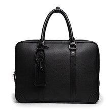 New Men's Handbag Fashion Business Briefcase Multifunctional High-end Portable PU Leather Bag Commuter OL Men's Computer Bag