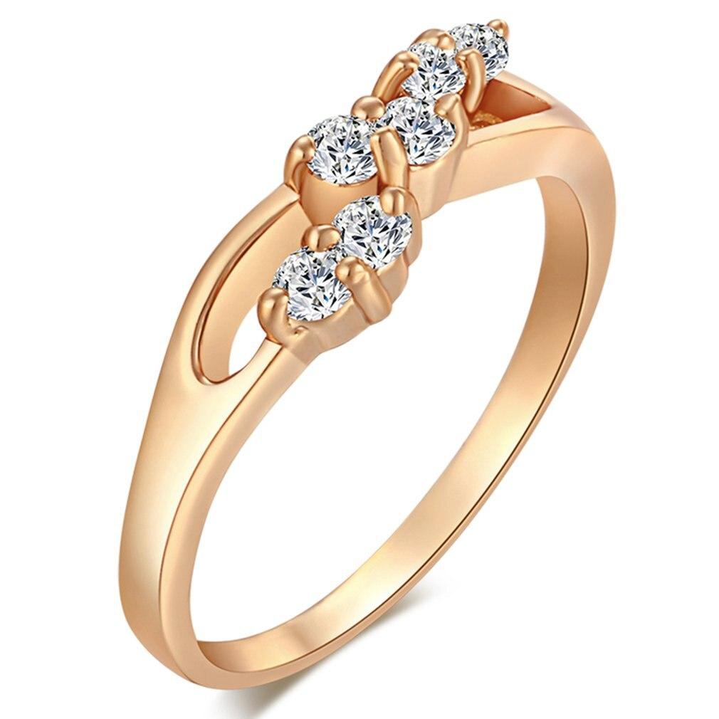 J0505-J-B-9 Romantische Kirsche Ausschnitt Zirkon Ring Kupfer Finger Reif Hoop Mode Schmuck Dekoration für Geschenk Präsentieren