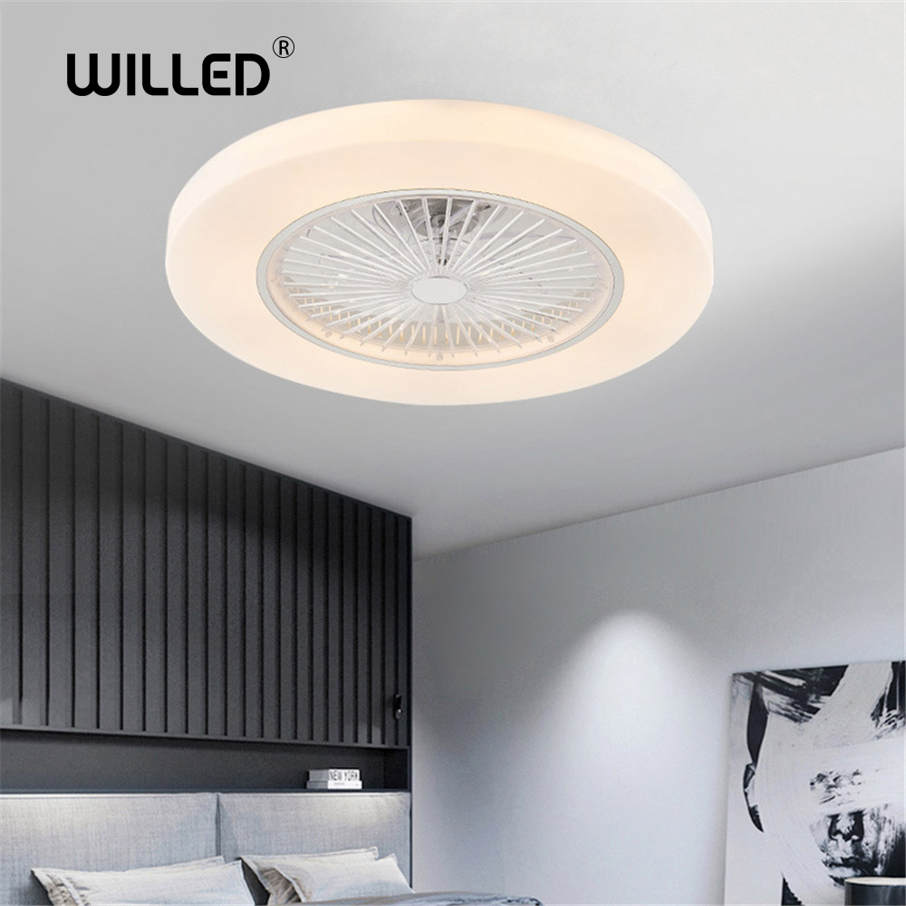 Wi-fi APP Smart Led Ceiling Fan Lamp With Light Remote Control Living Room Bedroom Decor Lighting Dimming Good Sleep 110V 220V