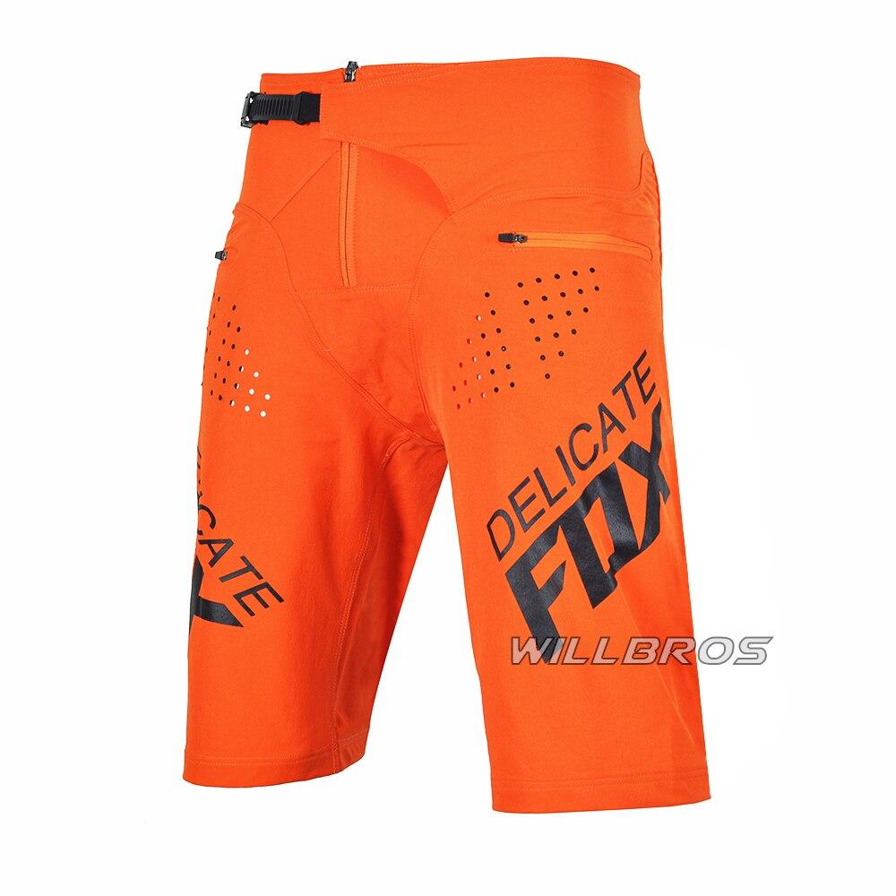 Motocross Racing Flexair Shorts Delicate Fox Motorcycle MTB Downhill Bike Mountain Bicycle Offroad Summer Short Pants Mens
