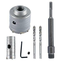 65mm+30mm SDS Plus Shank Hole Saw Cutter silver Drill Bit Stone Wall|Electric Hammers| |  -