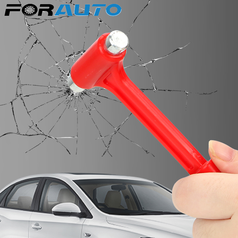 FORAUTO Car Safety Hammer Emergency Hammer Life-Saving Seat Belt Cutter Mini Car Safety Escape Glass Window Breaker image