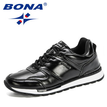 BONA 2020 New Designers Business Dress Shoes Genuine Leather Formal Office Men Shoes Party Fashion Wedding Man Footwear Trendy derby shoes men genuine leather luxury brand handmade vintage retro office formal party wedding dress shoes men