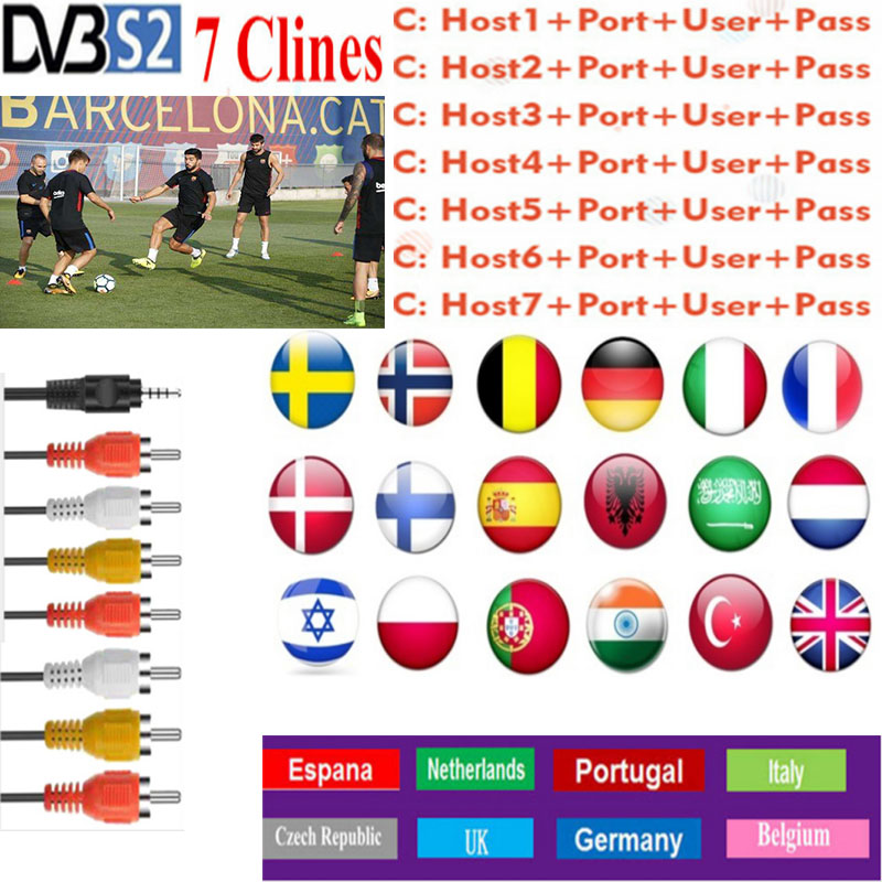 Oscam Europa 2019 Most Stable Cccams Europa Spain Satellite Tv Receiver 7lines WIFI FULL HD DVB-S2 Support Cccam V7 V8 V9 X800s