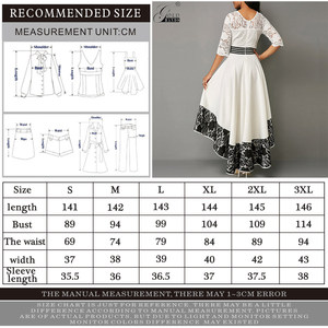 Image 5 - Gold Hands Autumn Women Dress  Elegant Sexy Hollow Out White Lace Long Party Dress Casual Plus Size Slim Ball Gown Maxi Dresses