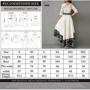 Image 5 - Ouro mãos outono vestido feminino elegante sexy oco para fora branco rendas vestido de festa longo casual plus size magro vestido de baile vestidos maxi