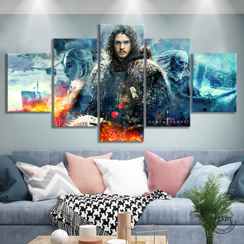 GOT Game of Thrones Movie Poster Fantasy Wall Art Canvas Paintings A Song of Ice and Fire Picture Modern Oil Painting Wall Art