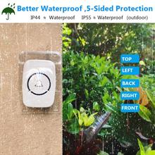 Waterproof Outdoor Transparent Cover for Wireless Doorbell Cover Home Door Bell Ring Button Double-Sided Tape Transmitter