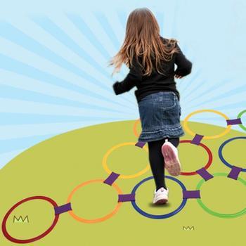 Kids Sports Toys Hopscotch Ring Kindergarten Fun Game Sense Training Outdoor Parent-child Toys