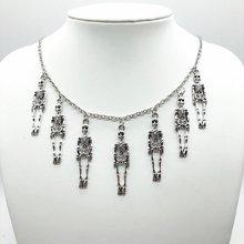 1 шт подарок на Хэллоуин винтажное ожерелье с черепом пиратского