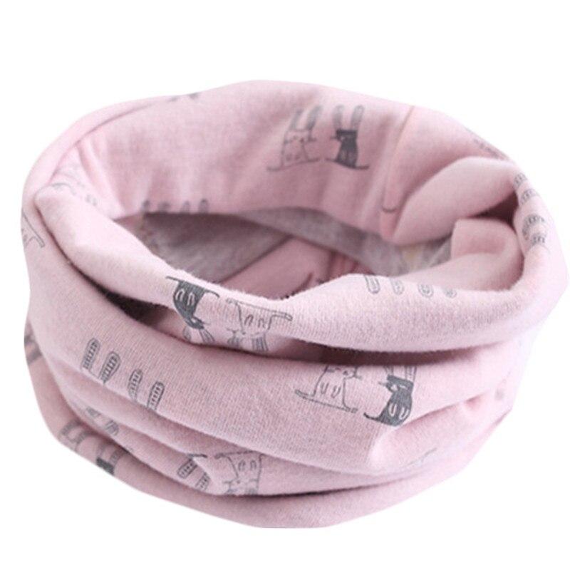 Весенне-осенне-зимний детский хлопковый шарф для От 0 до 10 лет, Детские шарфы с героями мультфильмов, модный теплый воротник - Цвет: 19