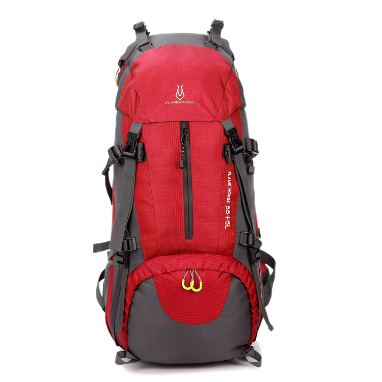 Outdoor Sports Hiking Bag Open Country Camping Backpack Profession Water Resistant 60L Mountaineering Bag Wholesale