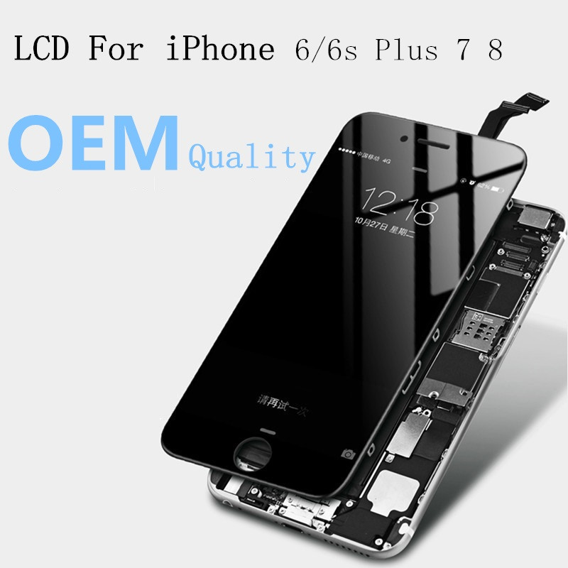 OEM original Quality LCD Display For iPhone 5s SE 6 6s Plus 7 8 Touch Screen Digitizer Assembly Replacement Black White image