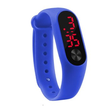 цена на Casual Sports Bracelet Watches White LED Electronic Candy Color Digital Candy Color Silicone Wrist Watch for Children Kids 2020