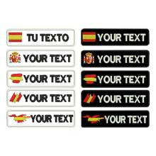 Custom SPAIN galician name patches tags personalized iron on hook backing embroidered