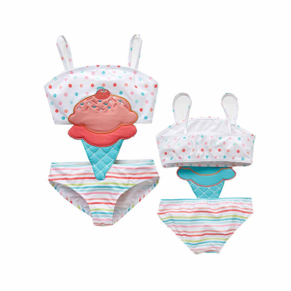 2020 maluch niemowlę dziecko stroje kąpielowe dla dziewczyn arbuz strój kąpielowy pływanie plaża bikini kąpielowe śliczne lato jednoczęściowy kostium kąpielowy