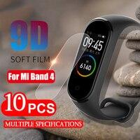 Dla Xiao mi mi Band 4 Screen Protector miękka folia dla Xiao mi mi Band 4 inteligentne akcesoria do bransoletki pełny ekran przepuszczalność Film