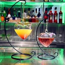 Оригинальность в форме сердца, коктейльное стекло, Висячие креативные чашки для сока, напитков, бар, красное вино, Агава, украшение для клубной вечеринки, инструменты