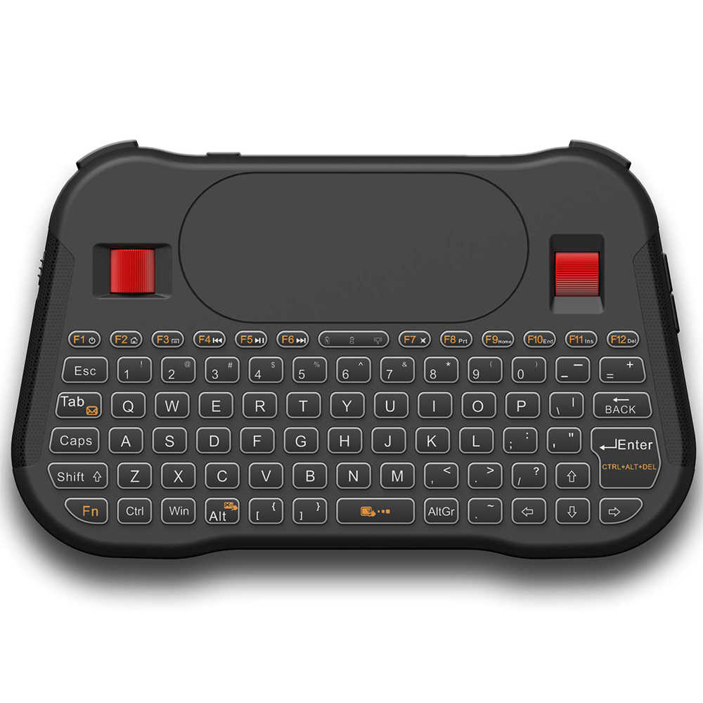 Air Mouse 2.4GHz Draadloze mini Backlit Keyboard Remote Backlight Engels T18 + Touchpad Controller Voor Android TV BOX PC linux