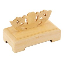 Display Holder Chinese Fan Decorative Stand Handy Bamboo Folding
