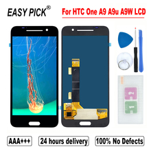 ل HTC One A9 A9U A9W شاشة الكريستال السائل مجموعة المحولات الرقمية لشاشة تعمل بلمس أدوات مجانية ل HTC A9s A9sx A9sh العالمي شاشة LCD