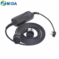 5Meter 10Amp UK Plug EV Charging Cable EVSE IEC62196 Type 2 EV Charger Connector for Electric Car Charger