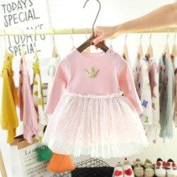 Primavera verão estrela infantil bebê vestido de algodão da criança vestido de princesa festa de natal vestidos de malha de casamento meninas crianças roupas vestido