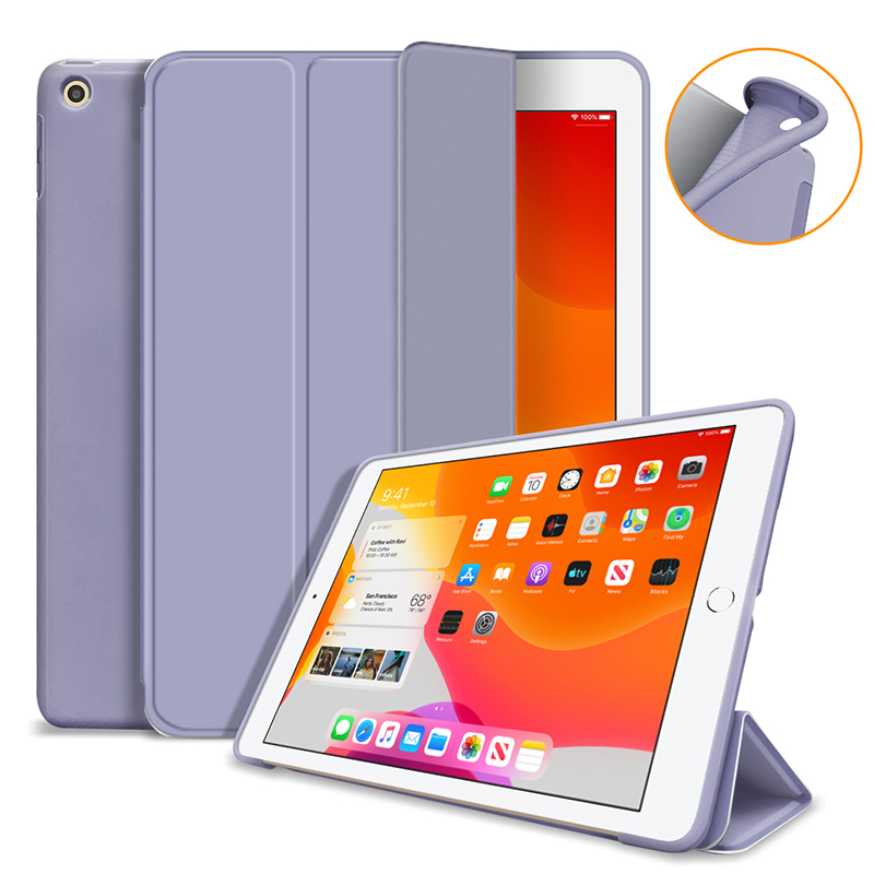 Lavender Red Silicone Cover Case For iPad 10 2 Case For iPad 8th 7th Generation Cover For Model