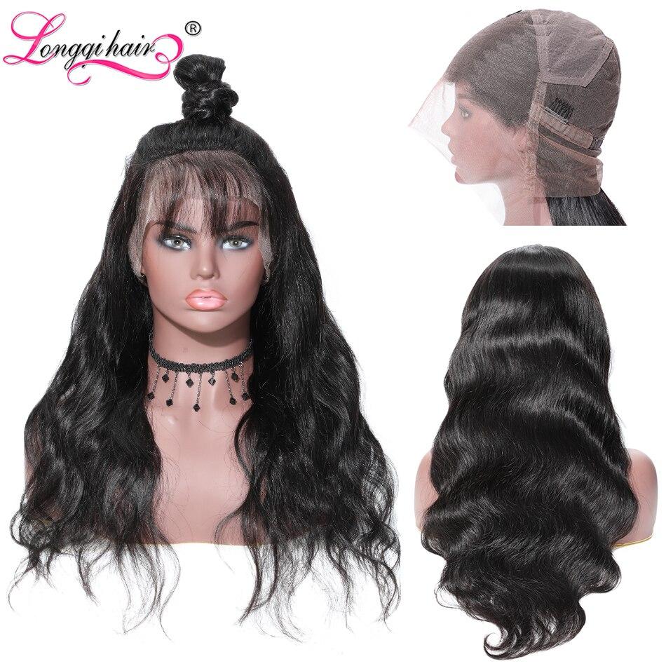 Longqi Hair Full Lace Wigs Human Hair With Baby Hair Body Wave Brazilian Wigs Remy Human Hair Wigs For Black Women