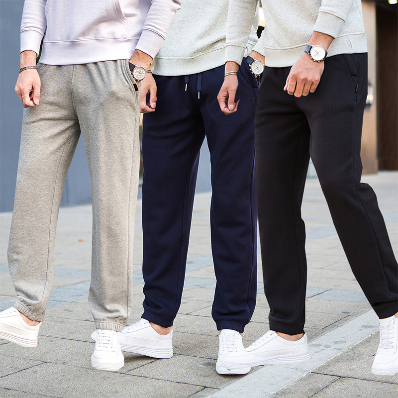 Men's Homewear Sweatpants 100%cotton Sleep Bottoms Trousers Loose Simple Solid Pajamas Spring Fitness Pants