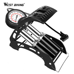 Mountain Bike Foot Air Pump Portable High-Pressure Steel Inflator Pump MTB Cycling AccessoriesFor Bicycle Motorcycle Car Tire