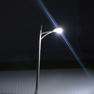 Image 3 - 1:100 Scale LED Street Light Toys 10cm Height Model Railway Coolwhite Light Lamp For Diorama Miniature Architecture Scenery Kits