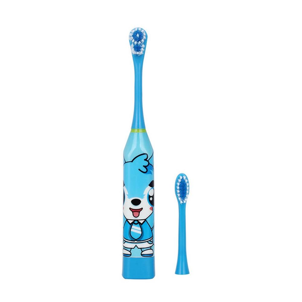 Lovely Children Electric Toothbrush Cartoon Pattern Double-sided Tooth Brush Heads Electric Teeth Brush For Kids with 2 pcs Head