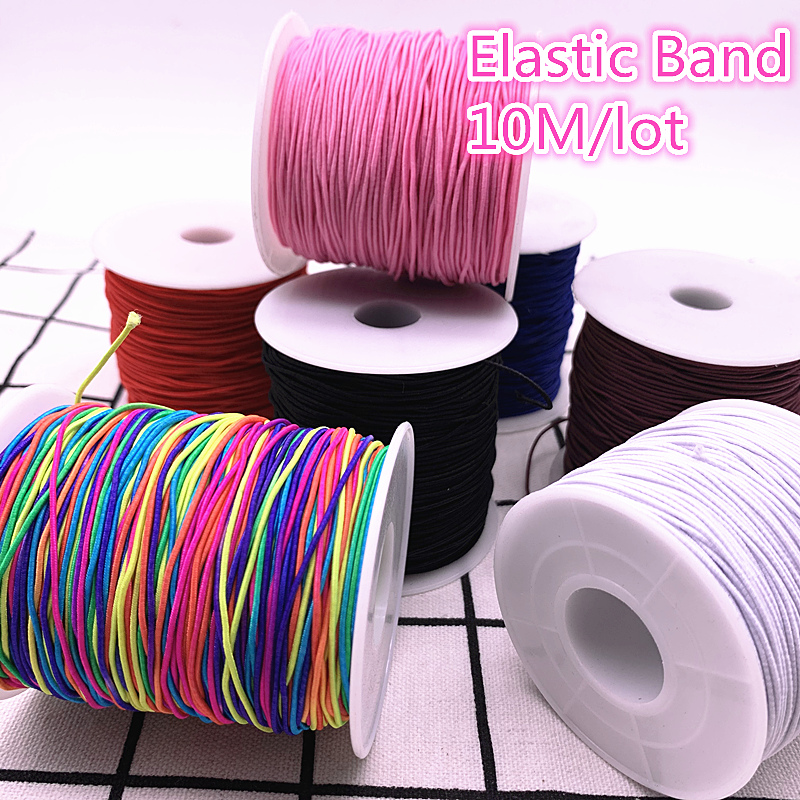 1.0mm 10yards/lot High-Elastic Round Elastic Band Rubber Band Elastic Cord Diy Sewing Accessories