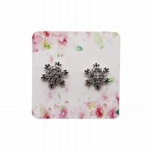 100 листов розовые цветы цвет точка цвет печать бумажная карточка ожерелье серьги Показать подвесные открытки 1 упаковка 5x5 см
