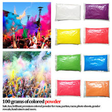 1PC 100g/bag Colored Powder For Holi Party Novelty Festival Rainbow Corn Flour Colorful Powder Gags Practical Jokes Funny Gadget(China)