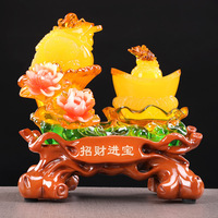 Fortune Toad Game Gold Office Shop Opening Gift New House Housewarming Gift Golden Toad Lucky Decoration