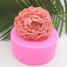 1 шт 39x39x35 мм силиконовые формы Роза мяч роза пресс для мыльных