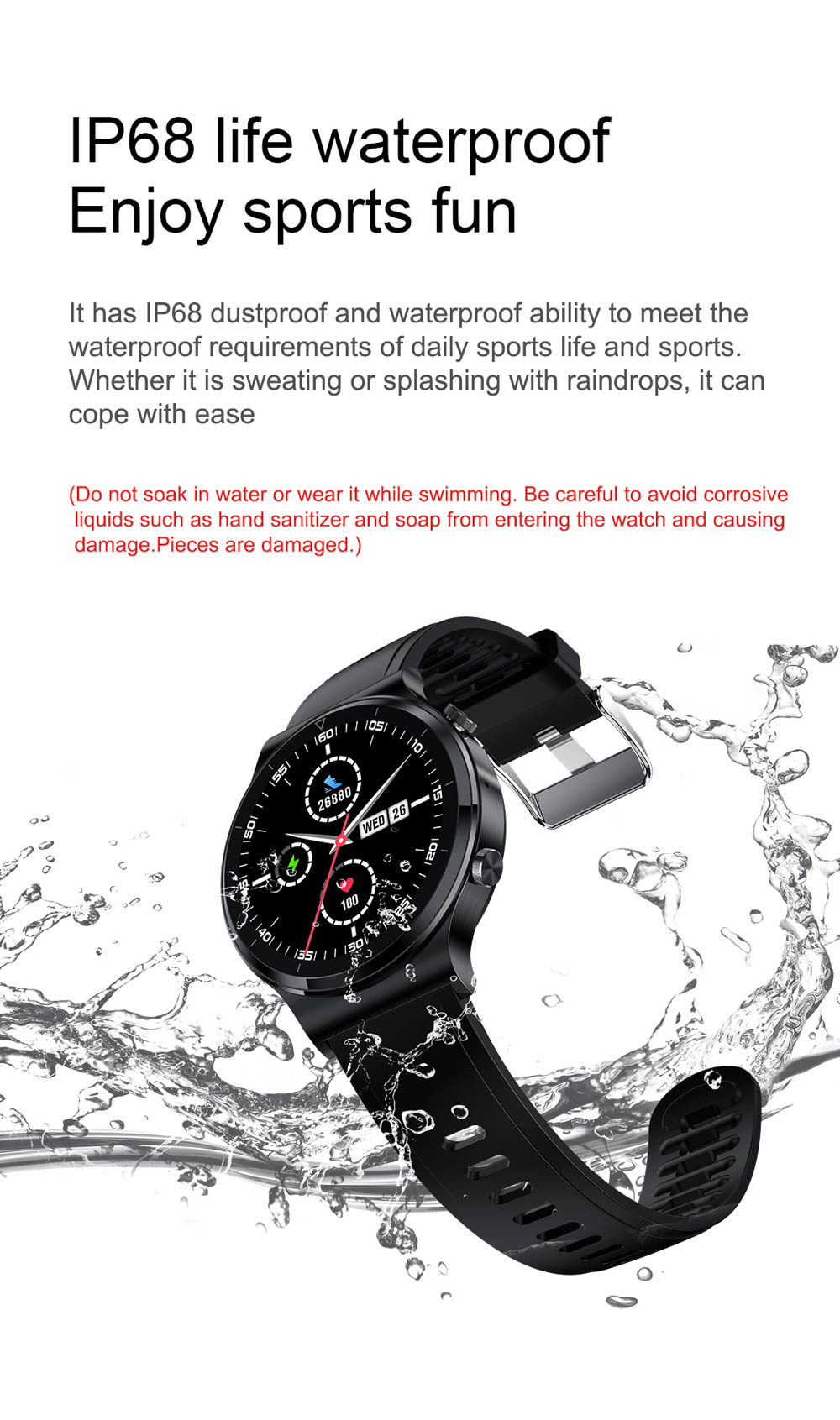H5eb738e9eb2c4fc2bc83716f7f7318d2i NUOBO 2021 New Smart Watch Men Bluetooth Call Heart Rate Blood Pressure Sports IP68 Waterproof Smartwatch for Android IOS Phone