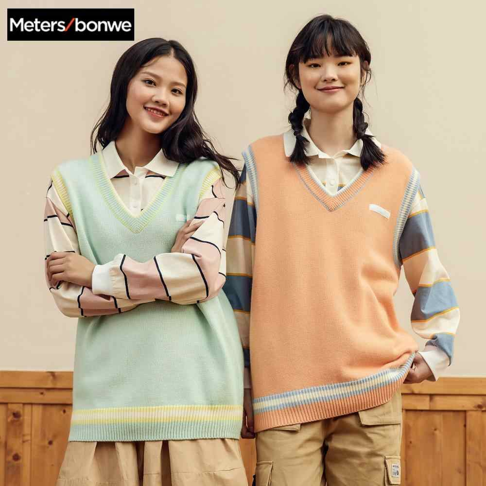 Metersbonweための女性の春 2020 新カジュアルvファッションニットベスト女子学生